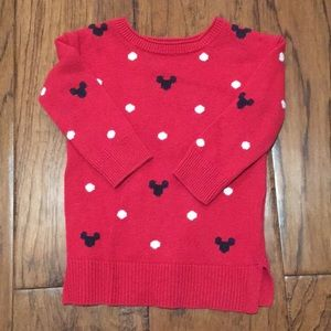 Baby GAP x Disney red sweater with Mickey and dots